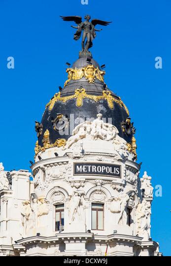 Madrid, Metropolis Building - Stock Image