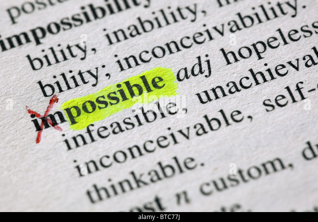 From the impossible to the possible - Stock Image