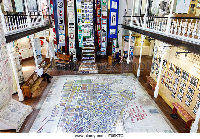 South Africa African Cape Town City Centre center District Six Museum apartheid inside exhibit exhibits - Stock Image