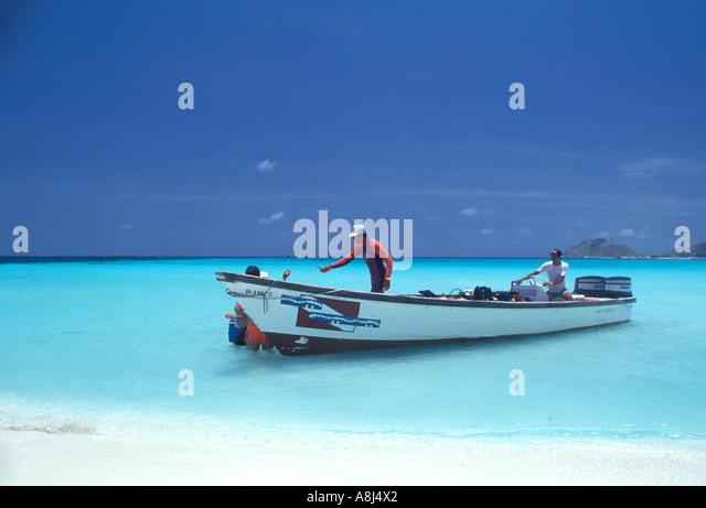 Los Roques Archipelago Venezuela, dive boat - Stock Image