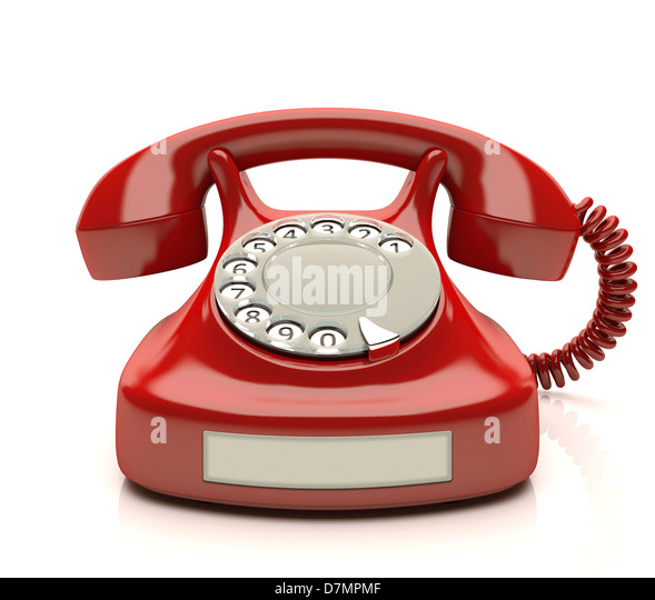 Telephone, artwork - Stock Image