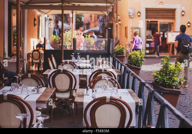 Rome city restaurant bar cafe stock photos rome city for Open terrace restaurants