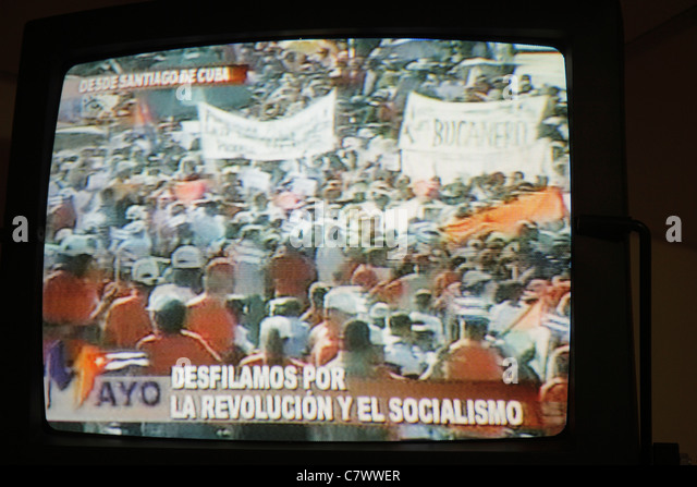 Managua Nicaragua Hotel Villa Angelo Cuba May Day celebration International Workers' Day labor movement march - Stock Image