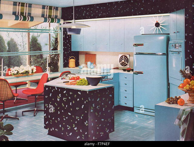 1950's kitchen - Stock Image