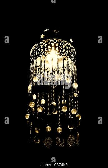 Arabian lamp with beautiful pearls. - Stock Image