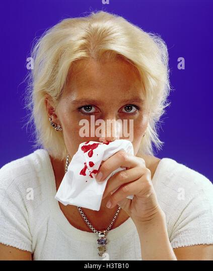 Woman Nosebleed Stock Photos & Woman Nosebleed Stock ...
