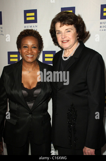 Wanda Sykes and Dianne Feinstein Human Rights Campaign's annual gala and hero awards held at the Hyatt Regency - Stock Image