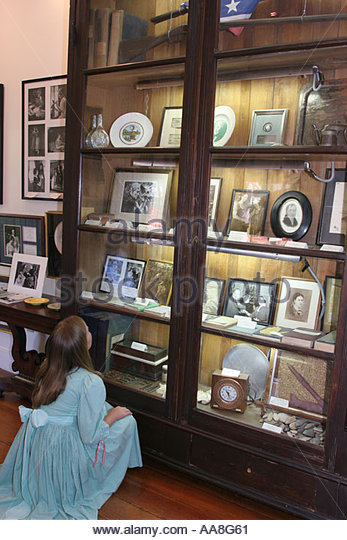 Alabama Tuscumbia Ivy Green Helen Keller birthplace deaf blind The Miracle Worker exhibit - Stock Image