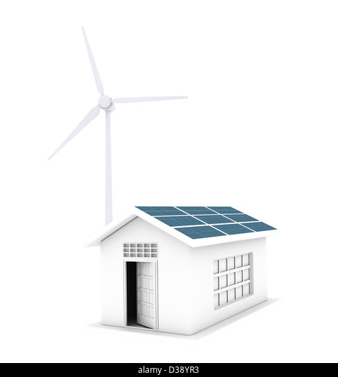 House running on natural energy resources - Stock Image