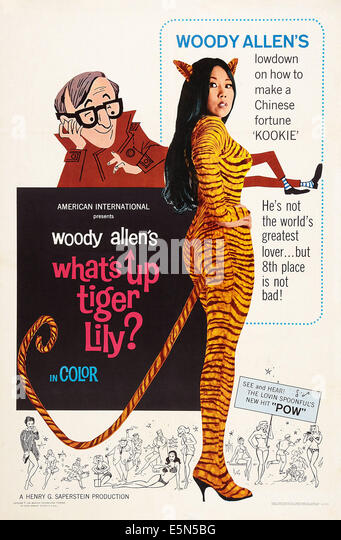 WHAT'S UP, TIGER LILY?, US poster art, left: Woody Allen, 1966. - Stock Image