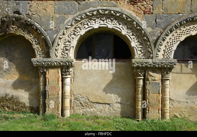 arch from former cloister Nogaro Gers France - Stock Image