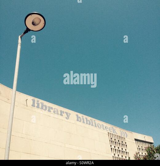 Sea Point Library, Cape Town. - Stock Image