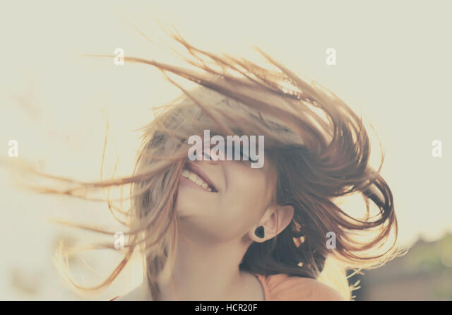 Beautiful girl face - Stock Image