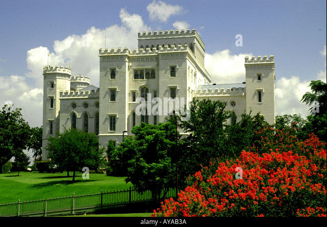 Baton Rouge LA Louisiana Old State Capitol Building - Stock Image