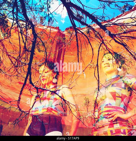 Abiquiu Georgia O'Keefe Echo Amphitheater - Stock Image