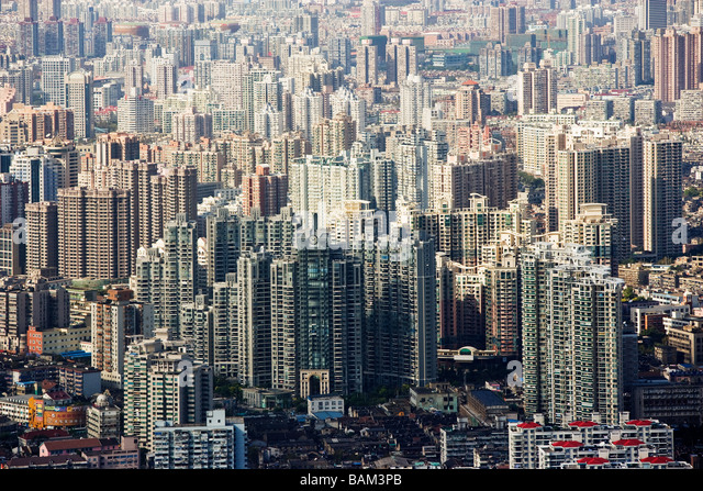 Apartment buildings in shanghai - Stock-Bilder