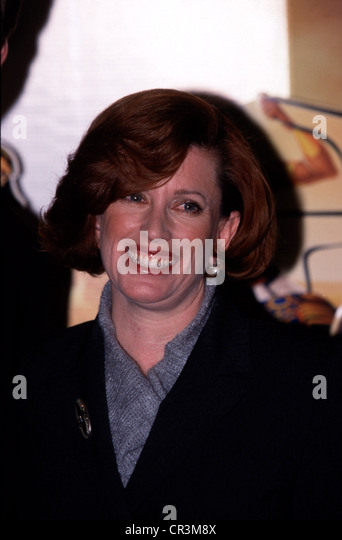 Rabins, Sandra, film producer, portrait, 1998, laughing, movie, - Stock-Bilder