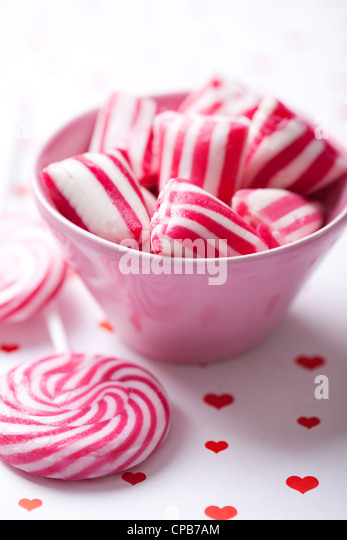 old fashioned peppermint  rock candy - Stock-Bilder