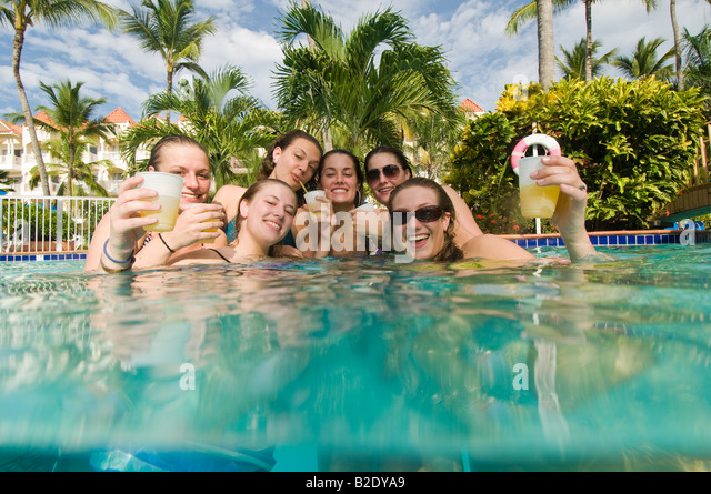 Caribbean Dominican Republic Barcelo Punta Cana all inclusive resort - Stock Image