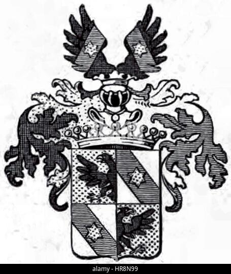 Wappen der Grafen Alberti von Enno - Stock Image