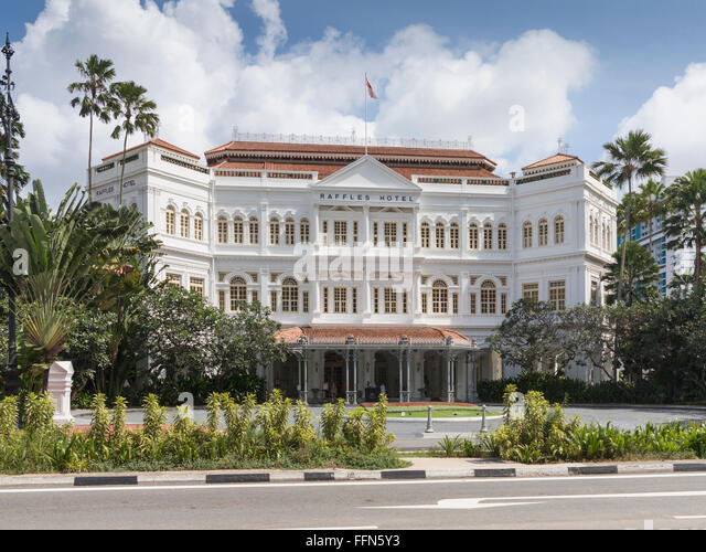 Raffles Hotel, Singapore, Southeast Asia - Stock Image