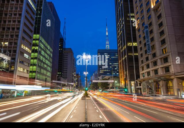 Brazil Sao Paulo district Jardim Paulista Avenue - Stock Image