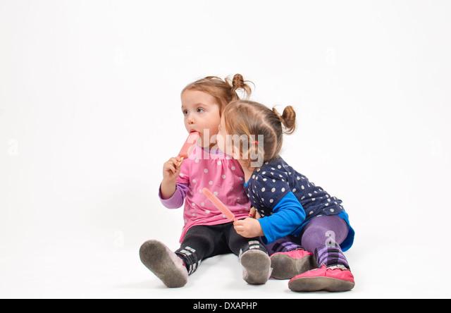 ice cream girls kissing