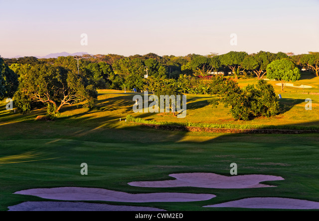 A beautiful golf course in the Philippines - Stock Image