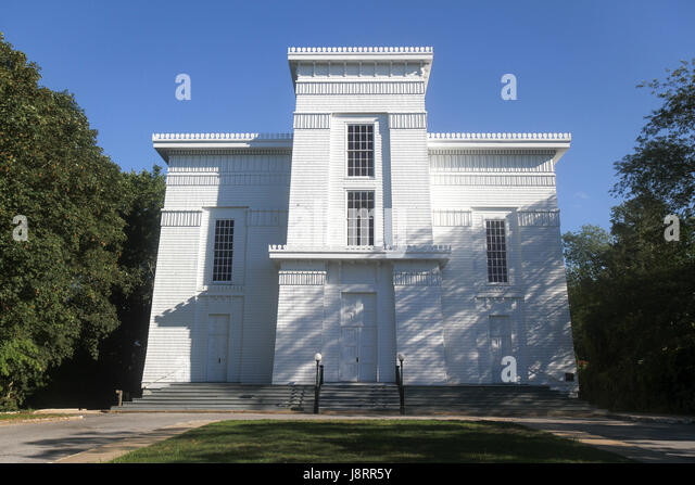The First Presbyterian Church of Sag Harbor, also known as the Old Whalers' Church, was built in 1844. Sag Harbor, - Stock Image