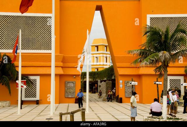 Puerto Costa Maya Mexico port shopping mall - Stock Image