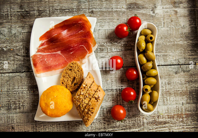 Fresh food on the table - Stock Image