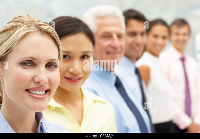 Mixed group business people - Stock Image