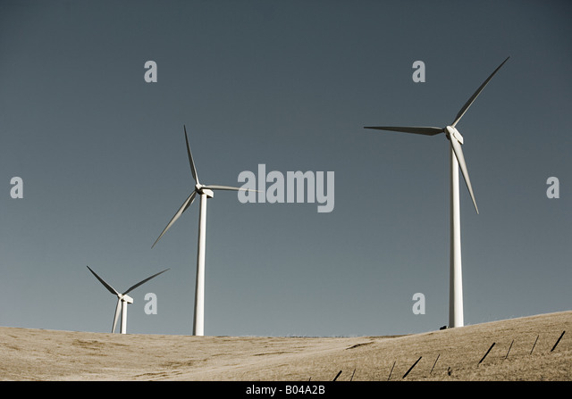 Wind turbines - Stock Image