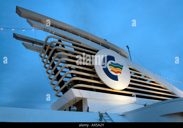 Color line ferry between - Stock Image