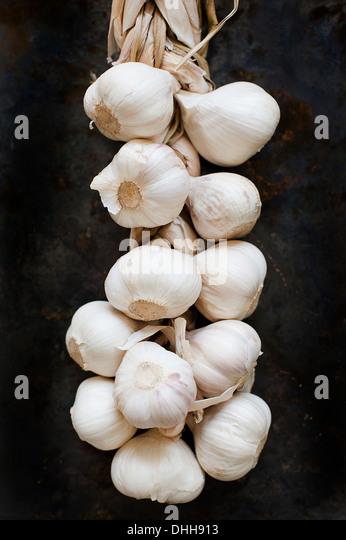 Cloves of fresh garlic - Stock Image