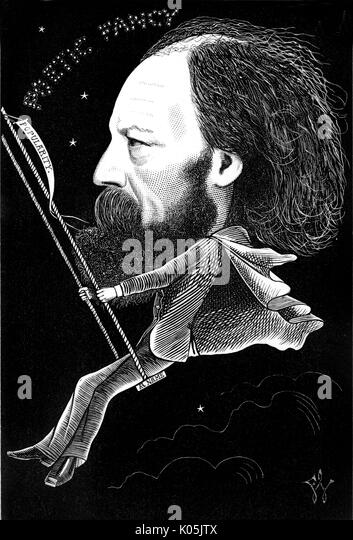 Alfred lord Tennyson (1809 - 1892) the English poet and Poet Laureate whose poetic fancy has helped him make a name - Stock Image