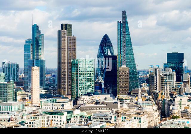 City of London skyline, London, England, United Kingdom, Europe - Stock Image