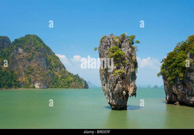 James Bond Island, Phang Nga Bay National Park, Phuket, Thailand - Stock Image