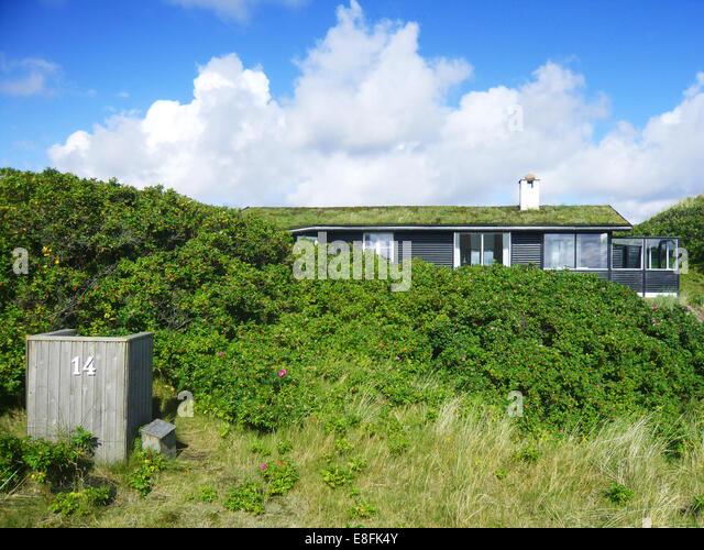 Traditional summerhouse, Fanoe, Denmark - Stock Image