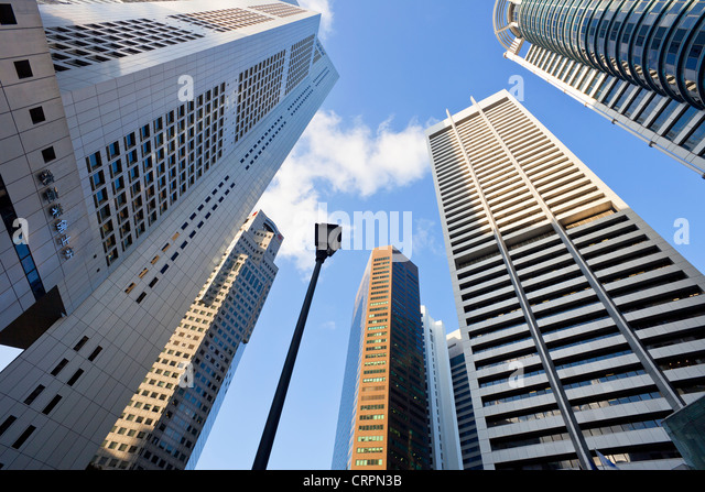 South East Asia, Singapore, CBD, Financial Centre Office Buildings - Stock Image