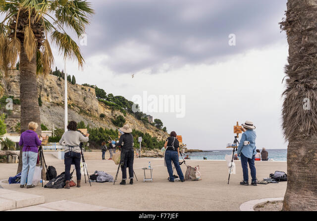 Hobby artists ,  workshop, Cassis , Côte d Azur France, - Stock Image