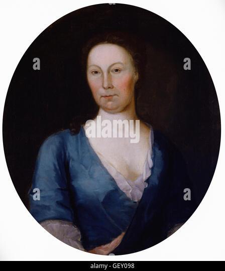 Attributed to Gustavus Hesselius - Mrs. Gustavus Brown - Stock Image
