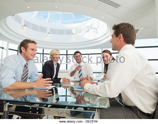 Business people having meeting - Stock Image