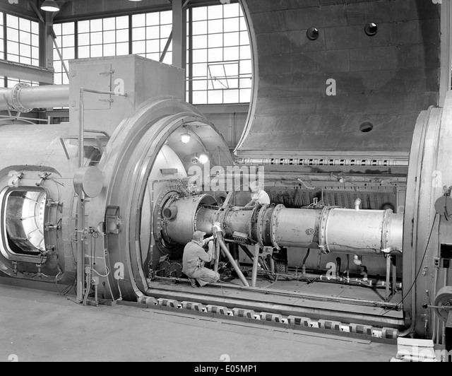 28 Romarc Ram Jet Engine in PSL Tank - Stock Image