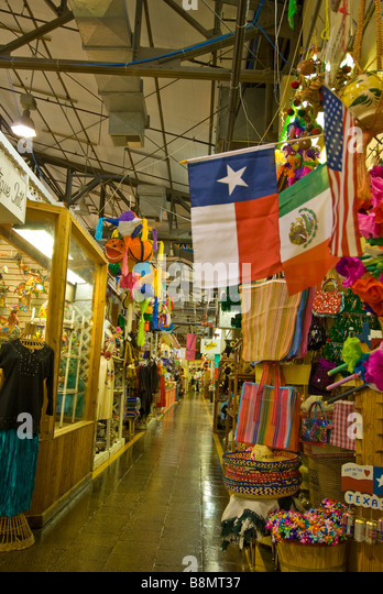 San Antonio Historic Market Square el mercado mexican marketplace - Stock Image