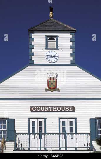 St Maarten Historic Courthouse - Stock Image