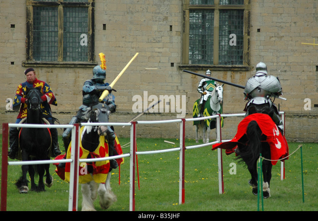 Knights jousting - Stock Image