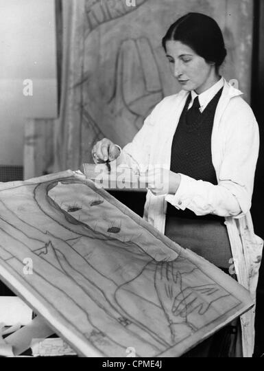 Professional college for the textile industry, 1931 - Stock Image