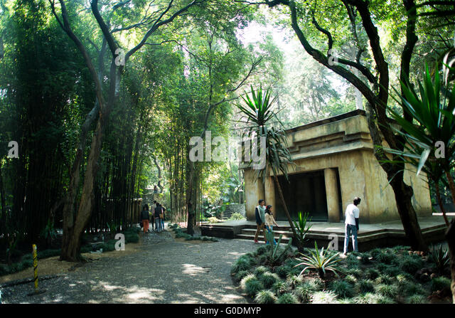 MEXICO CITY, MEXICO--a Mayan building in one of the outside areas of the National Museum of Anthropology in Mexico - Stock-Bilder
