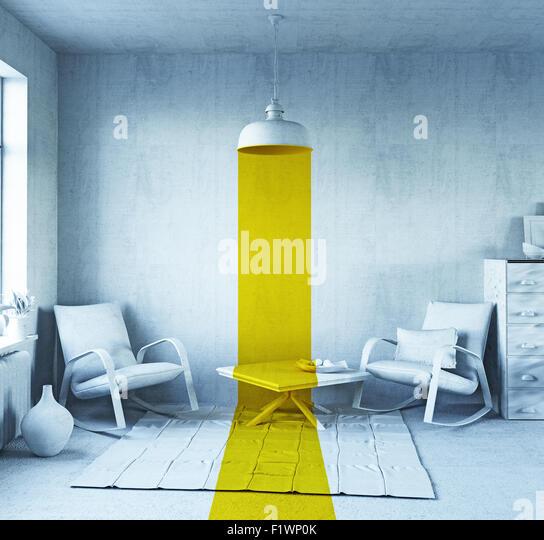 concept art - style interior. 3d rendering - Stock-Bilder